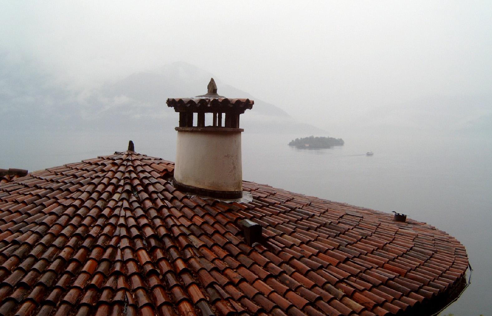 dak boven het Lago Maggiore